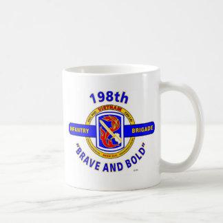 "198TH INFANTRY BRIGADE ""BRAVE AND BOLD"" VIETNAM COFFEE MUGS"