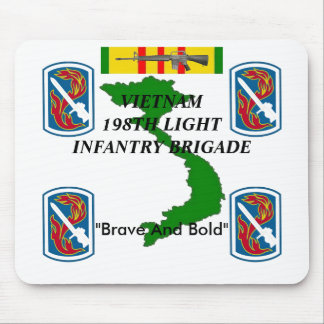 198th Light Inf Vietnam Mousepad 1/w