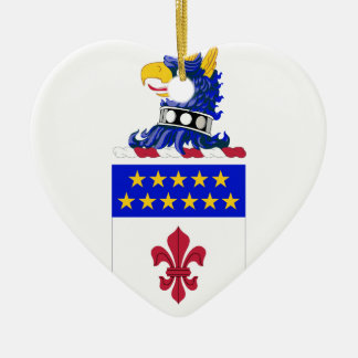 198th Signal Battalion COA Double-Sided Heart Ceramic Christmas Ornament