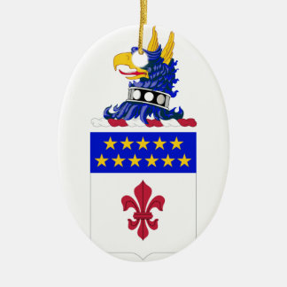 198th Signal Battalion COA Double-Sided Oval Ceramic Christmas Ornament