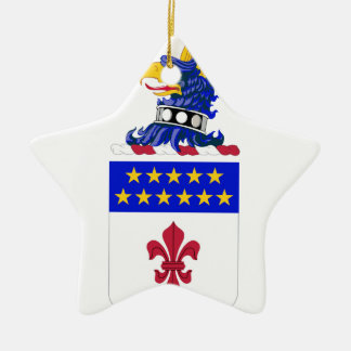 198th Signal Battalion COA Double-Sided Star Ceramic Christmas Ornament