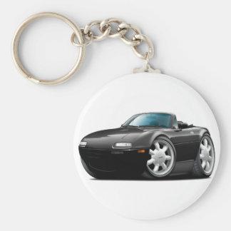 1990-98 Miata Black Car Basic Round Button Keychain