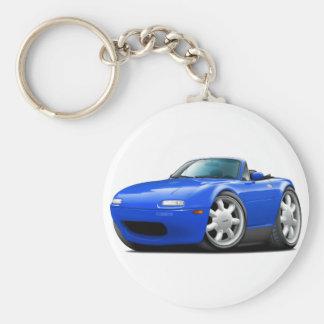 1990-98 Miata Blue Car Basic Round Button Keychain