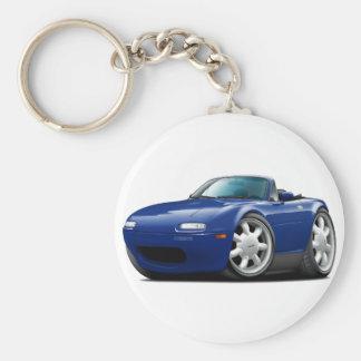 1990-98 Miata Dk Blue Car Basic Round Button Keychain