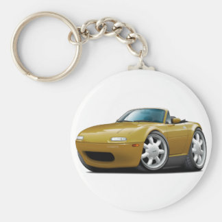 1990-98 Miata Gold Car Basic Round Button Keychain