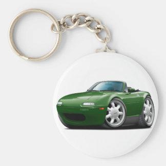 1990-98 Miata Green Car Basic Round Button Keychain