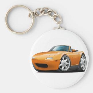 1990-98 Miata Orange Car Basic Round Button Keychain
