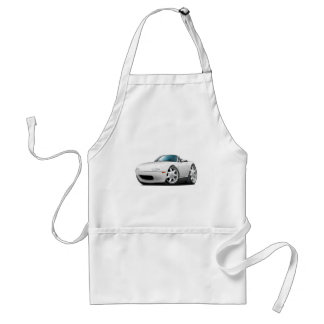 1990-98 Miata White Car Adult Apron