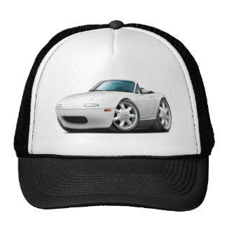 1990-98 Miata White Car Trucker Hat