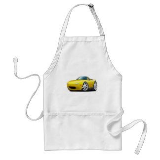 1990-98 Miata Yellow Car Adult Apron