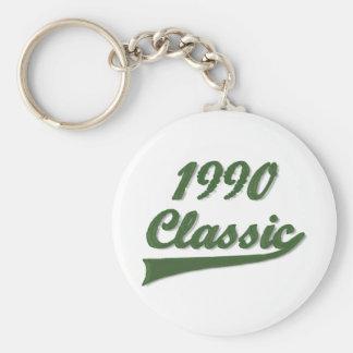 1990 Classic Basic Round Button Keychain