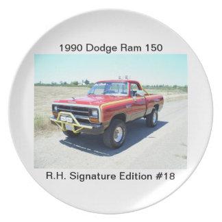 1990 Dodge Ram 150 Rod Hall Signature Edition #18 Melamine Plate