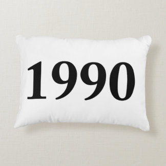 1990 for birthdays, anniversaries, celebrations accent pillow