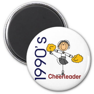 1990's Cheerleader Stick Figure Magnet