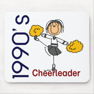1990's Cheerleader Stick Figure Mouse Pad
