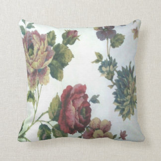 1990's Flower Pattern Throw Pillow