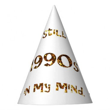 Halloween Themed 1990s Nostalgia Gold Glitter Party Hat
