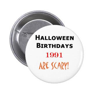 1991 halloween birthday buttons