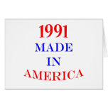 1991 Made in America Greeting Card