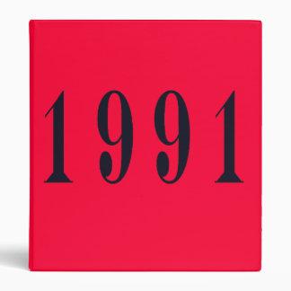 1991 School Scrapbook Avery Binder