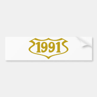 1991-shield.png bumper sticker