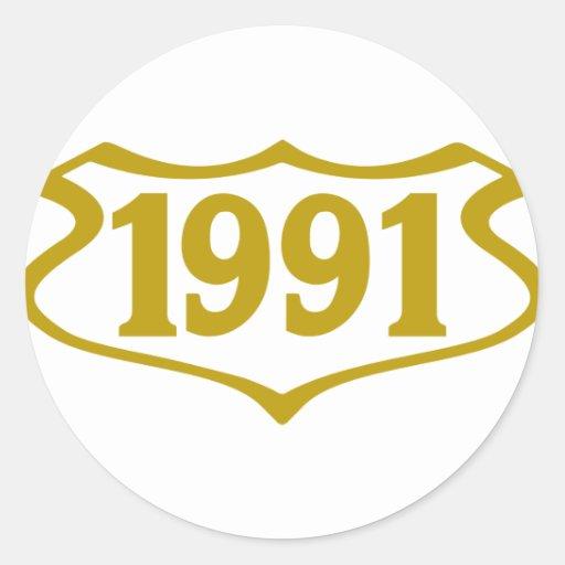 1991 shield.png pegatinas redondas