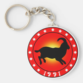 1991 Year of the Sheep - Ram - Goat Key Chain
