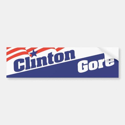 1992 Bill Clinton Al Gore Bumper Sticker