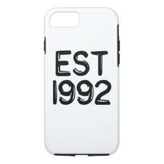 1992 birth year est 1992 iPhone 8/7 case
