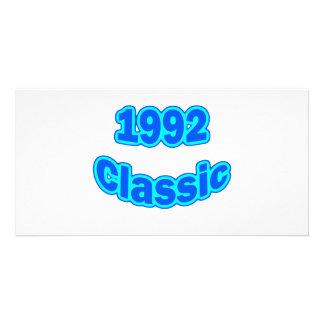 1992 Classic Blue Custom Photo Card