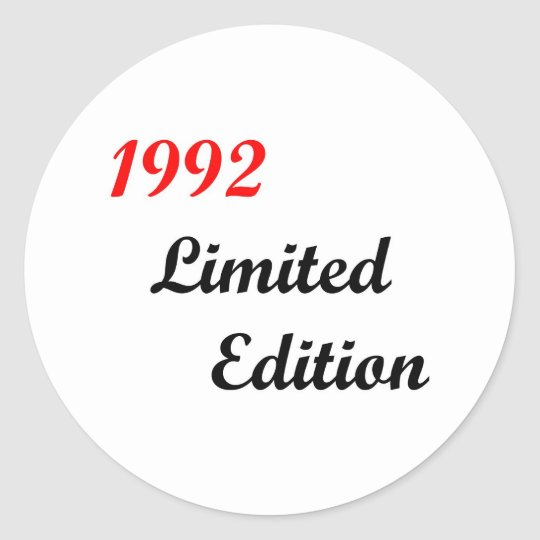 1992 Limited Edition Classic Round Sticker
