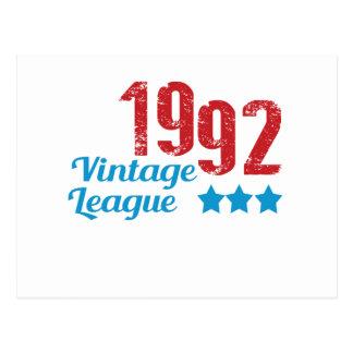 1992 vintage leaque postcard