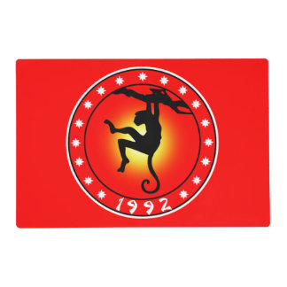 1992 Year of the Monkey Placemat