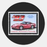 1993 40.os Corvettes del aniversario Pegatina Redonda