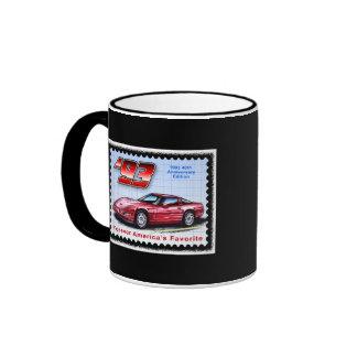 1993 40.os Corvettes del aniversario Taza De Dos Colores