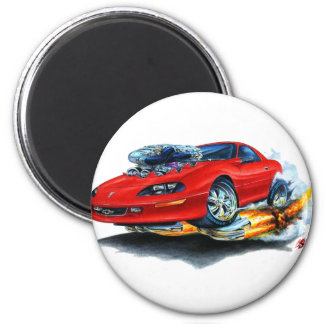 1993-97 Camaro Red Car 2 Inch Round Magnet