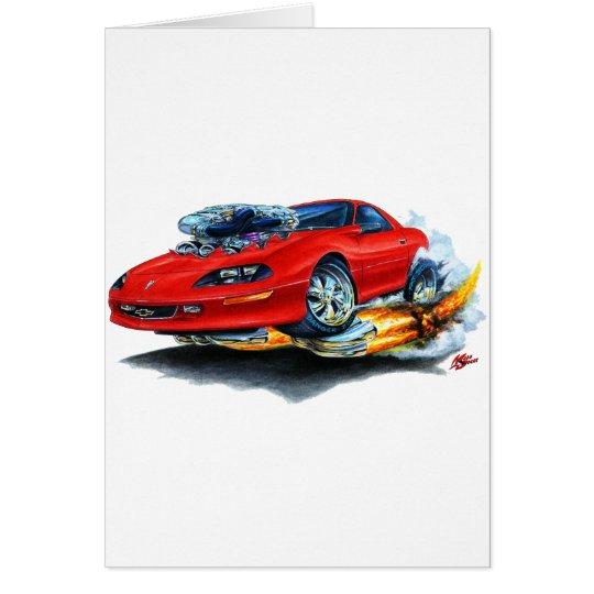 1993-97 Camaro Red Car Card