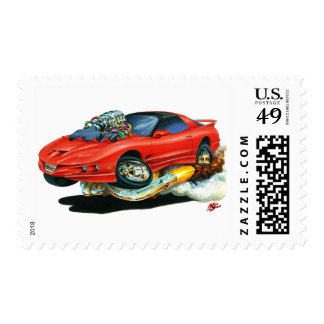 1993-97 Trans Am Red Car Postage Stamp
