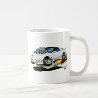 1993-97 Trans Am White Car Coffee Mug
