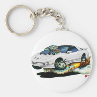 1993-97 Trans Am White Car Keychain