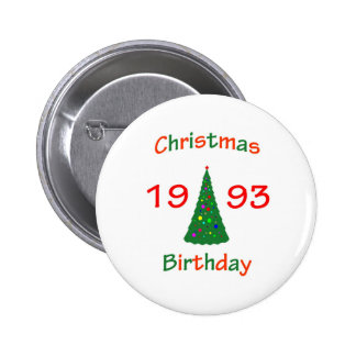 1993 Christmas Birthday Pinback Button