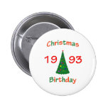 1993 Christmas Birthday Pins