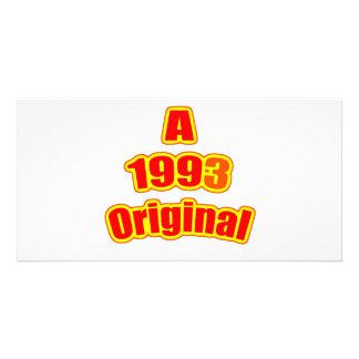 1993 Original Red Customized Photo Card