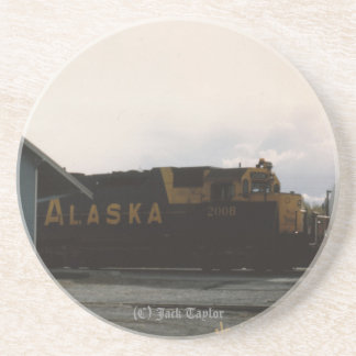 1993 Palmer Railroad depot and Engine Drink Coaster