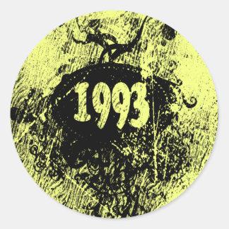 1993 vintage retro - pegatinas pegatina redonda