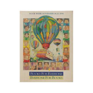 1994 Children's Book Week Wood Poster