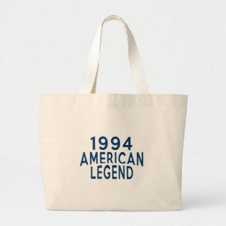 1994 diseños del cumpleaños de la leyenda del bolsa tela grande