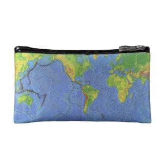1994 mapa del mundo físico - placas tectónicas -