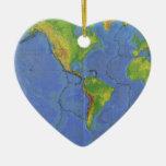 1994 mapa del mundo físico - placas tectónicas - U Ornamento Para Reyes Magos