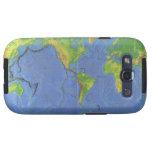 1994 mapa del mundo físico - placas tectónicas - U Galaxy S3 Cobertura